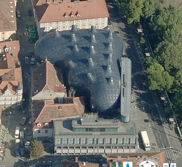 Kunsthaus Graz, Graz, Austria - Bing Maps Screen Shot 1