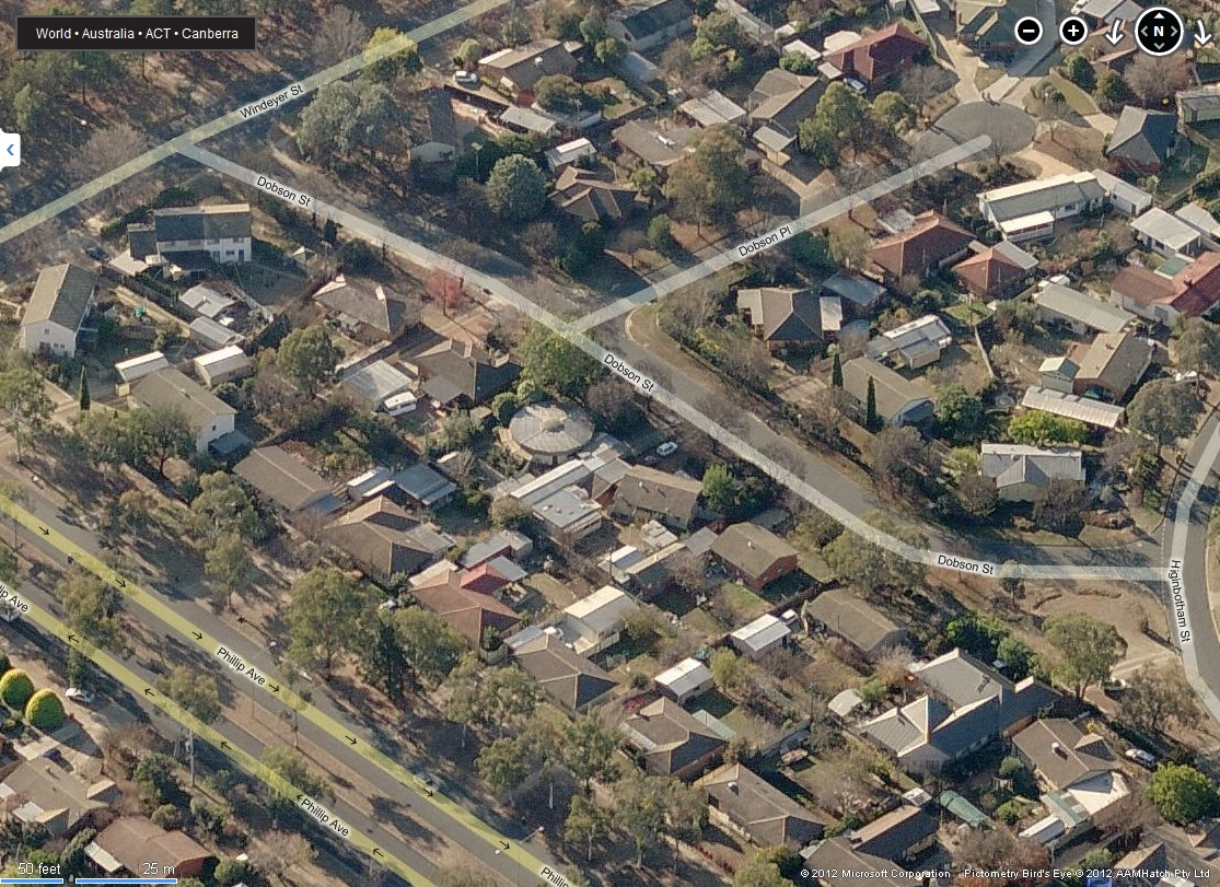 Not Futuro, Dobson, Bing Maps