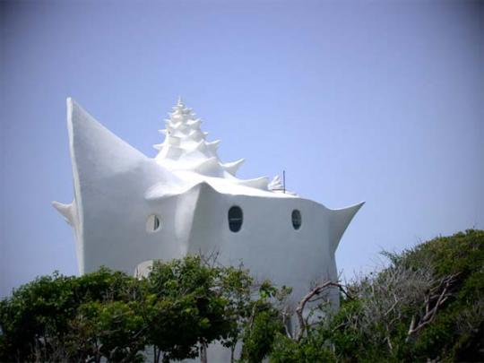 The Conch house Side View