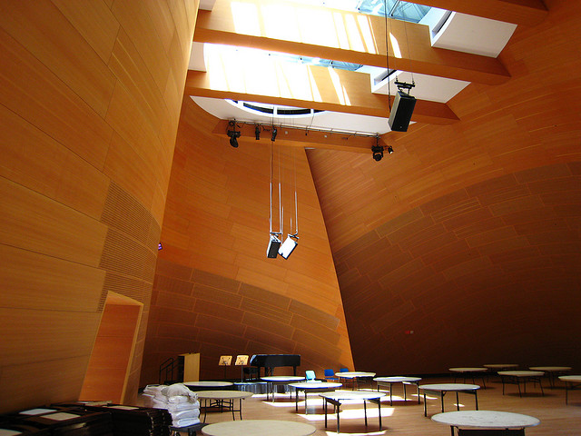 walt disney concert hall los angeles ca usa strange