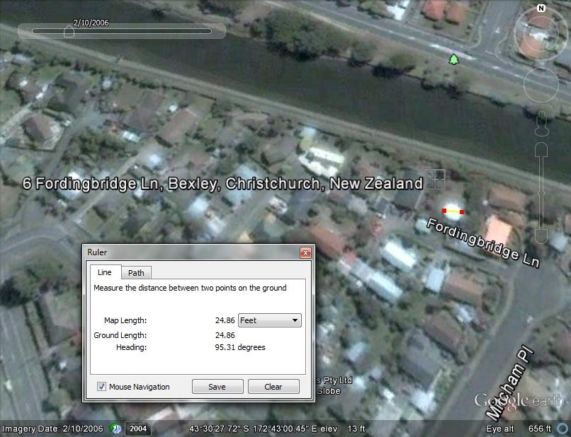 Futuro, Fordingbridge Lane, Christchurch, New Zealand - G/Earth Still On Site