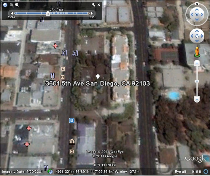 Futuro, San Diego, USA - Google Earth Snap Shot