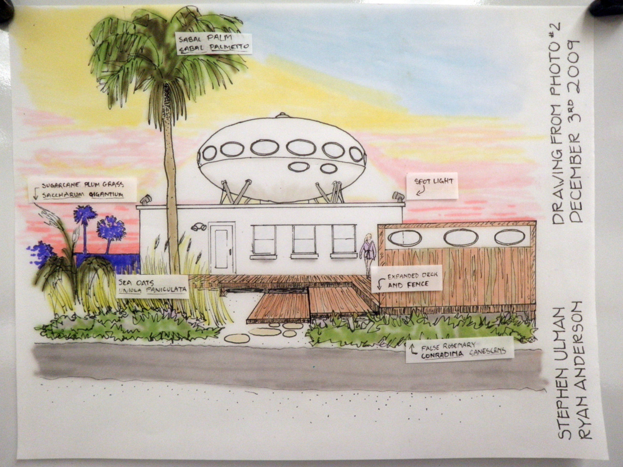 Futuro, Gulf Breeze, Florida, USA - Stephen Ulman drawing