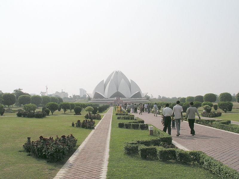 The Lotus Temple, New Delhi, India - Distant