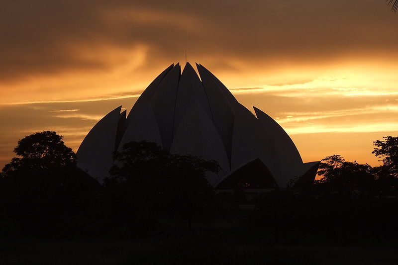 The Lotus Temple, New Delhi, India - Sunset