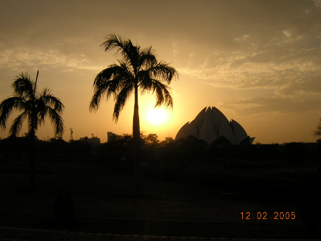 The Lotus Temple, New Delhi, India - Sunset 2