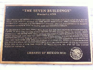 The Mexican Embassy, Washington DC, USA - Dedication Plaque