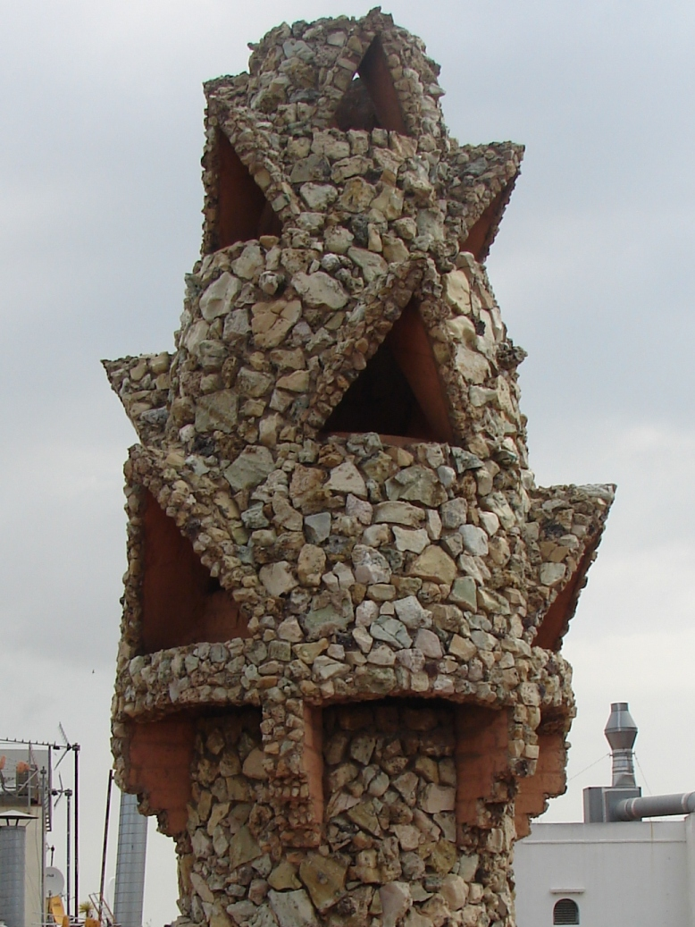 Palau Guell - Chimney Detail 10