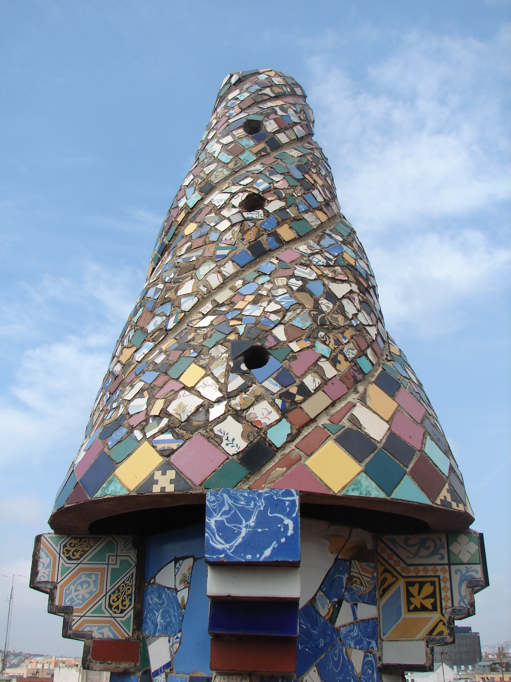 Palau Guell - Chimney Detail 6