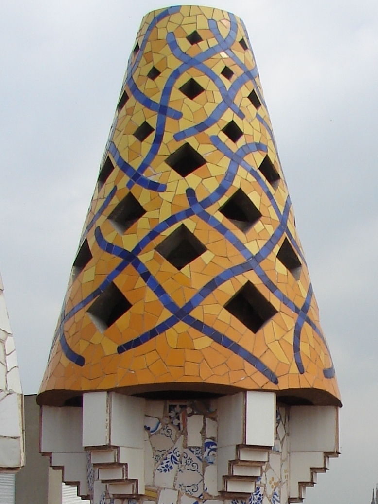 Palau Guell - Chimney Detail 9