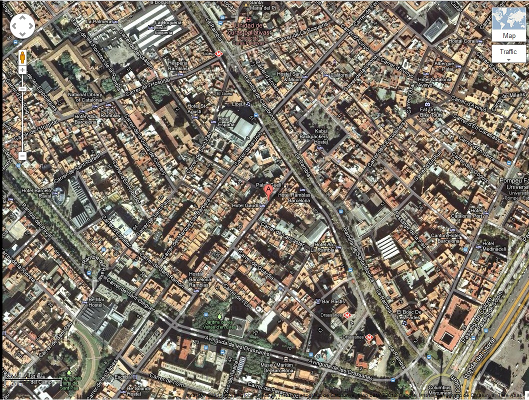 Palau Güell - Google Maps Screen Grab