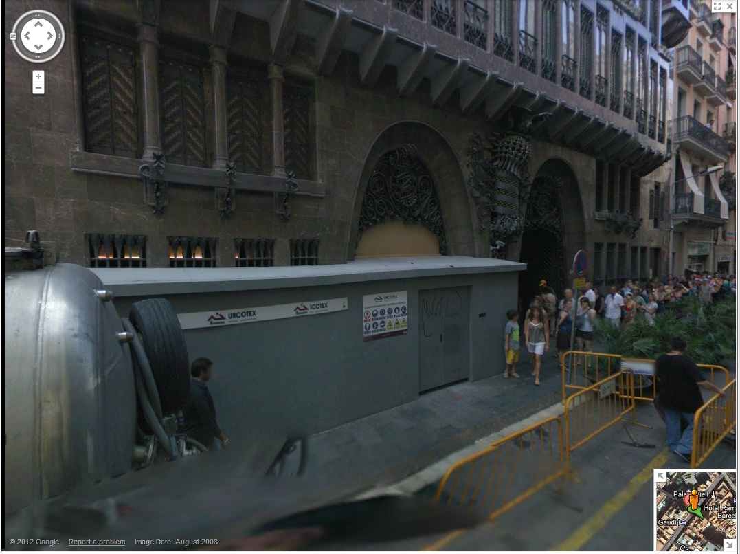 Palau Güell - Google Street View Screen Grab