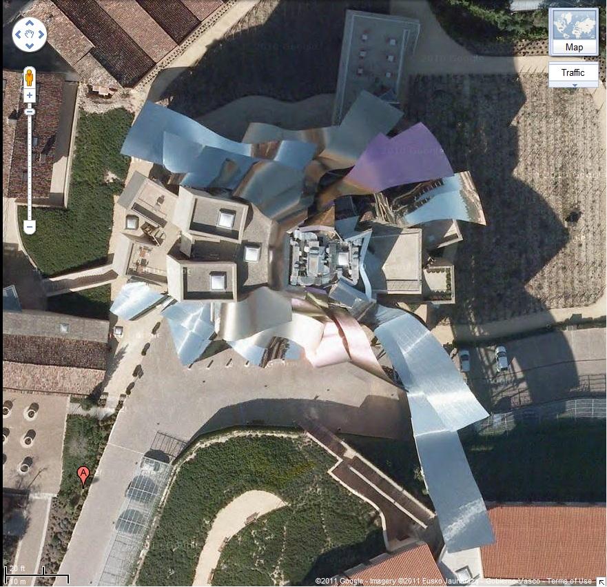 Hotel Marques de Riscal, Elciego, Spain - Google Maps Aerial screen Grab