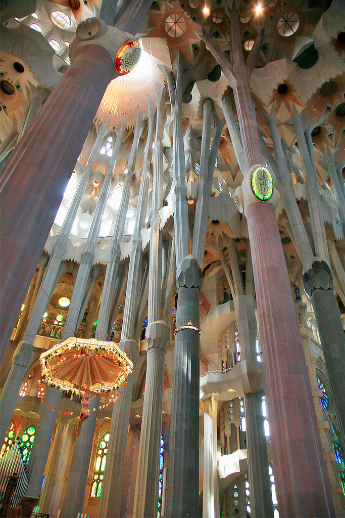 Sagrada Familia, Barcelona, Spain - Interior 2