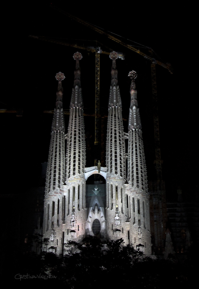 Sagrada Familia, Barcelona, Spain - Night 1