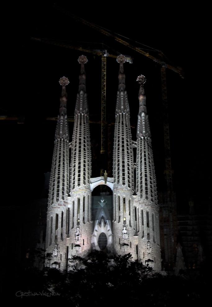Sagrada Familia, Barcelona, Spain - Night 1