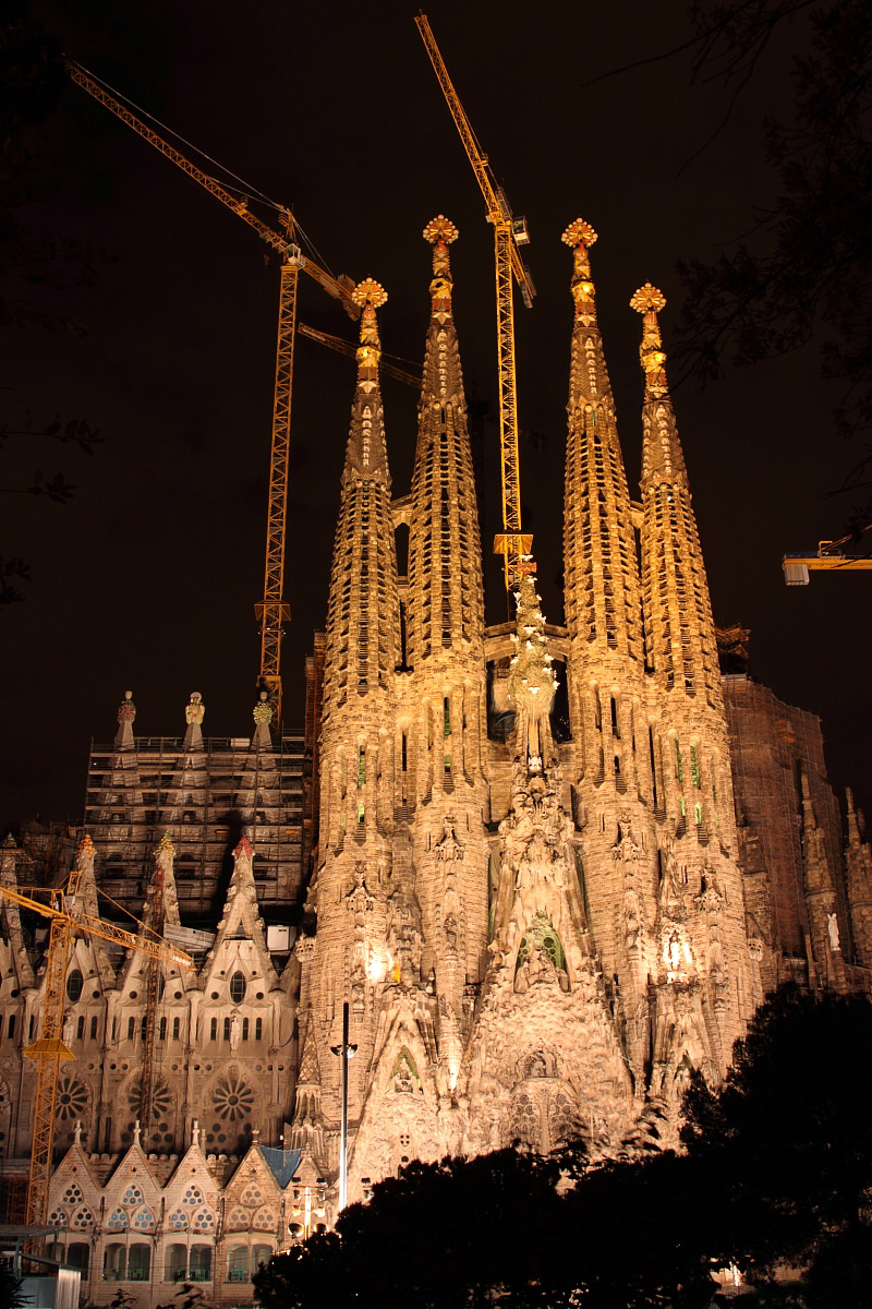 Sagrada Familia, Barcelona, Spain - Night 3