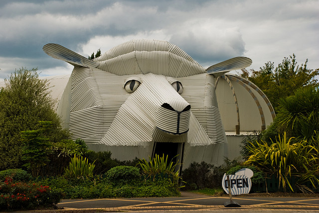 The Sheep Building, Tirau, Waikato, New Zealand