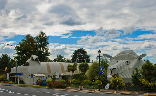 Sheep and Dog Buildings, Tirau, New Zealand