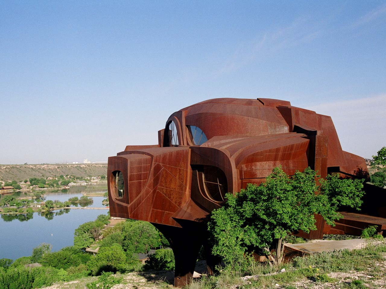 The steel house ransom canyon tx usa strange weird for Build a house in texas