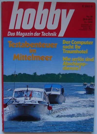 Hobby: Das Magazin der Technik | 092971 | Cover