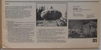 Whole Earth Catalog Spring 1970 Futuro Detail